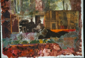 Passing Time - 22x30 - Painted Paper Collage (sold)